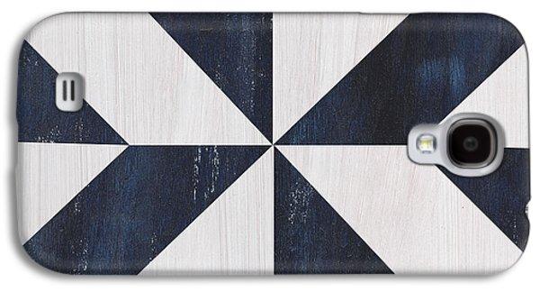 Indigo And Blue Quilt Galaxy S4 Case by Debbie DeWitt