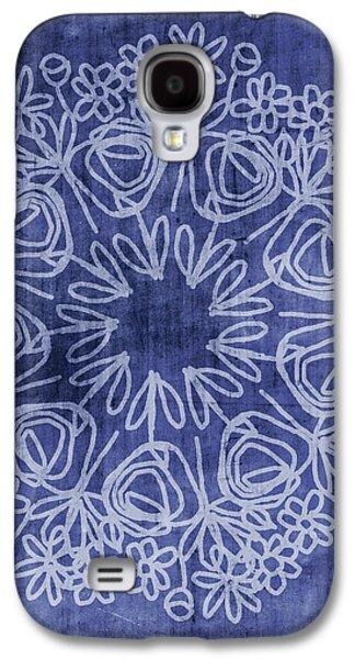 Indigo Mandala 1- Art By Linda Woods Galaxy S4 Case by Linda Woods