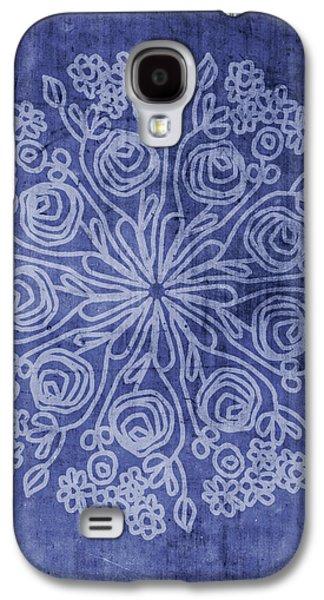 Indigo Mandala 2- Art By Linda Woods Galaxy S4 Case by Linda Woods
