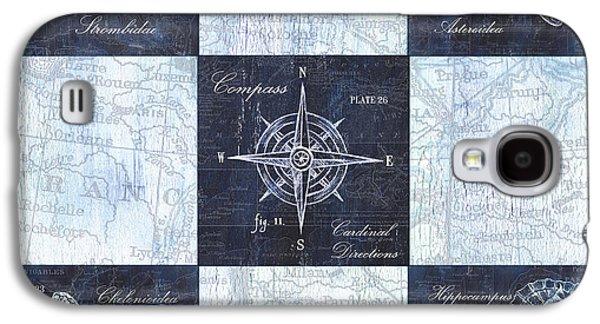 Indigo Nautical Collage Galaxy S4 Case by Debbie DeWitt
