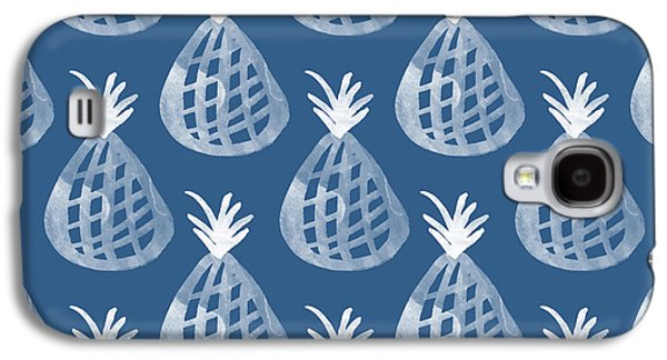 Indigo Pineapple Party Galaxy S4 Case