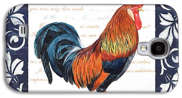 Indigo Rooster 1 Galaxy S4 Case by Debbie DeWitt
