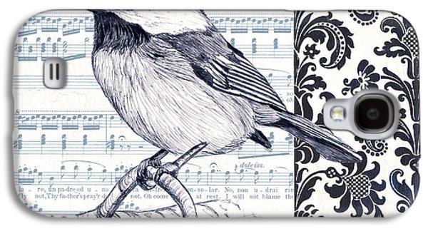 Indigo Vintage Songbird 2 Galaxy S4 Case by Debbie DeWitt