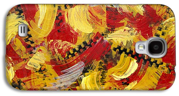 Industrial Abstract Painting IIi Galaxy S4 Case by Christina Rollo