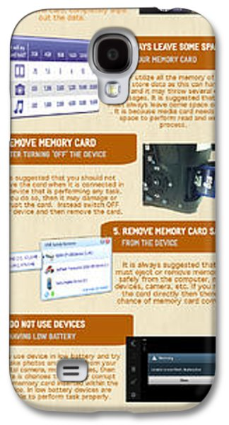 Infographic10 Tips To Avoid Memory Card Errors And Corruptions Galaxy S4 Case by Henri Charles