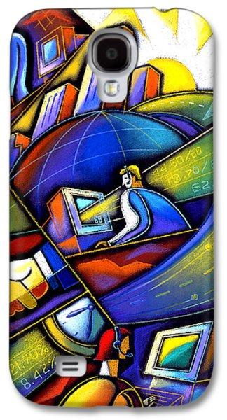 Information Age Galaxy S4 Case by Leon Zernitsky