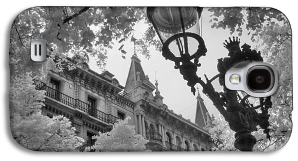 Infrared Street Light Black And White Barcelona Spain Galaxy S4 Case