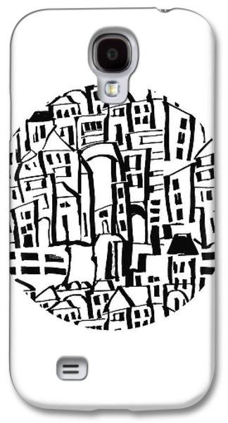 Inky Village Sketch Ball- Art By Linda Woods Galaxy S4 Case