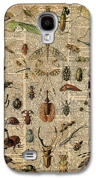 Insects Bugs Flies Vintage Illustration Dictionary Art Galaxy S4 Case