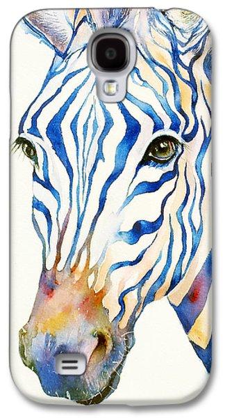 Intense Blue Zebra Galaxy S4 Case by Arti Chauhan
