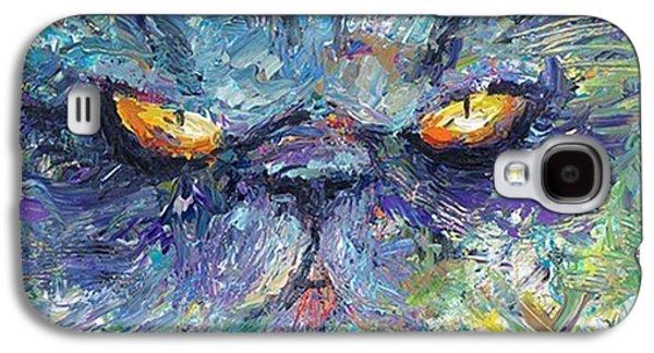 Intense Palette Knife  Persian Cat Galaxy S4 Case