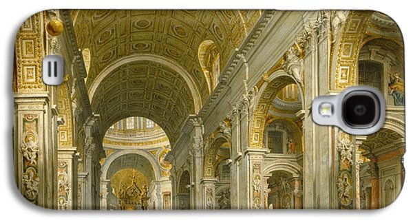 Interior Of St. Peter's - Rome Galaxy S4 Case by Giovanni Paolo Panini
