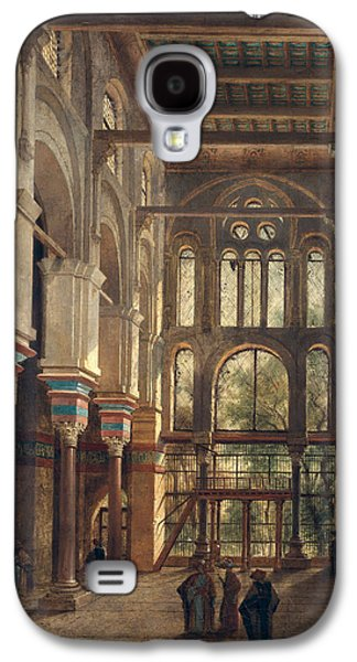 Interior Of The Mosque Of El Mooristan In Cairo Galaxy S4 Case by Adrien Dauzats