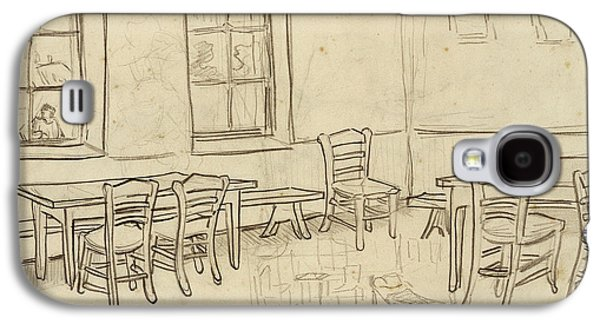 Interior With Tables And Chairs, And A Sketch Of 'the Bedroom', 1890 Galaxy S4 Case by Vincent Van Gogh