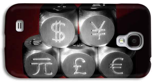 Stainless Steel Galaxy S4 Case - International Currency Symbols II by Tom Mc Nemar