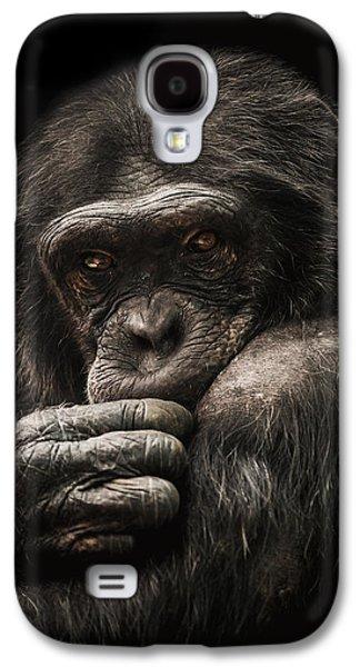 Chimpanzee Galaxy S4 Case - Introvert by Paul Neville