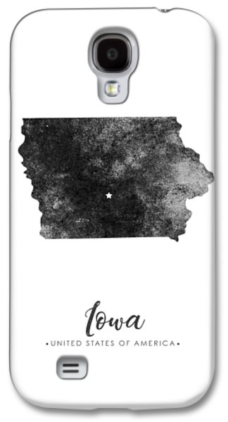 Iowa State Map Art - Grunge Silhouette Galaxy S4 Case