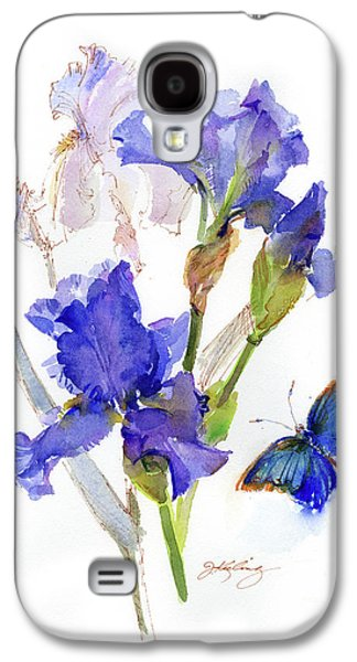 Iris With Blue Butterfly Galaxy S4 Case