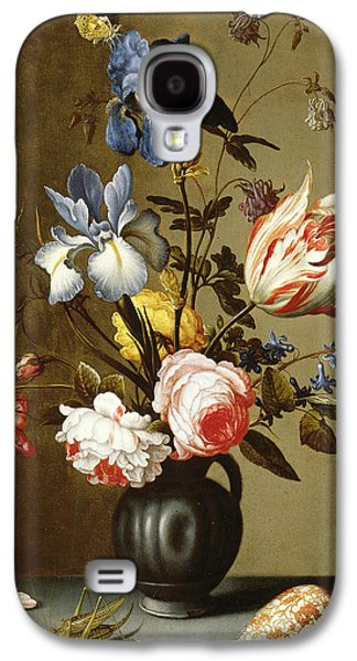 Irises, Roses, Columbine, Hyacinth And A Tulip In A Black Pottery Pitcher Galaxy S4 Case