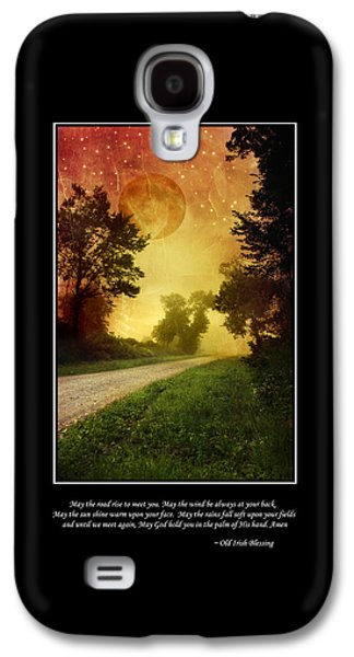 Irish Blessing Poster Art Galaxy S4 Case by Christina Rollo