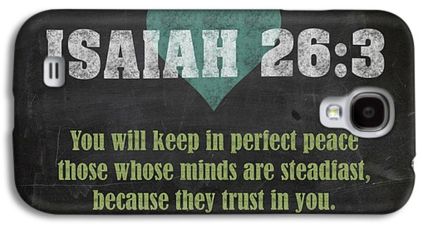 Isaiah 26 3 Inspirational Quote Bible Verses On Chalkboard Art Galaxy S4 Case