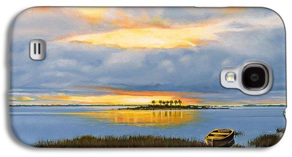 Island Sunset Galaxy S4 Case by Rick McKinney