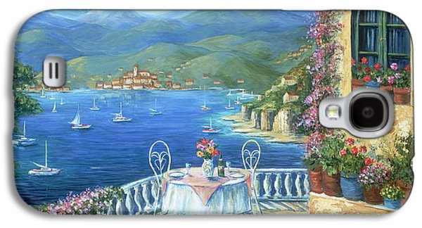 Dine Galaxy S4 Cases - Italian Lunch On The Terrace Galaxy S4 Case by Marilyn Dunlap