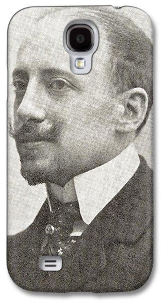 Italian Poet Writer Aviator Gabriele D Galaxy S4 Case by Vintage Design Pics