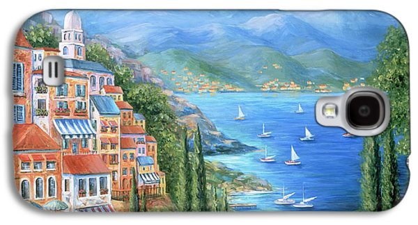 Harbor Paintings Galaxy S4 Cases - Italian Village By The Sea Galaxy S4 Case by Marilyn Dunlap