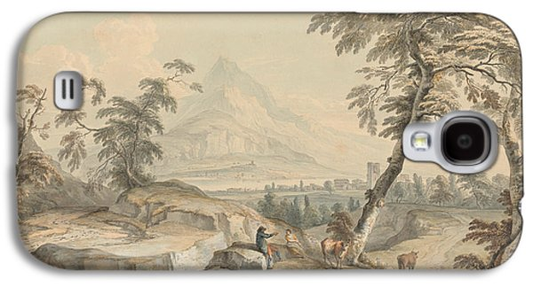 Italianate Landscape With Travelers, No. 1 Galaxy S4 Case by Paul Sandby