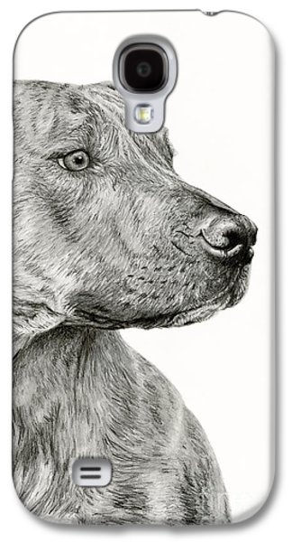 Ittie Bittie Pittie Galaxy S4 Case by Sarah Batalka