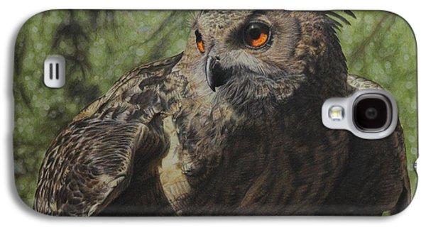 Owl Galaxy S4 Case - Ivan by Jennifer Watson