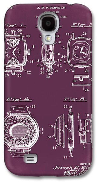 J B Kislinger Watch Patent 1933 Red Galaxy S4 Case by Bill Cannon