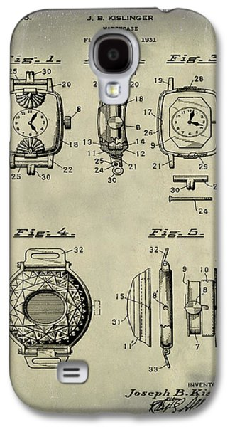 J B Kislinger Watch Patent 1933 Weathered Galaxy S4 Case by Bill Cannon