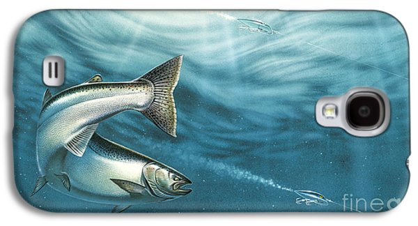 J-pluggin Salmon Galaxy S4 Case by Jon Wright