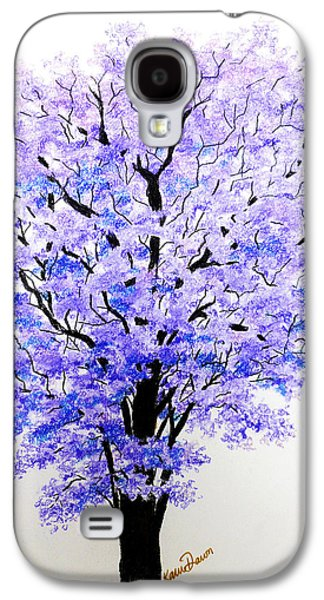 Botanical Pastels Galaxy S4 Cases - Jacaranda Time Galaxy S4 Case by Karin Kelshall- Best