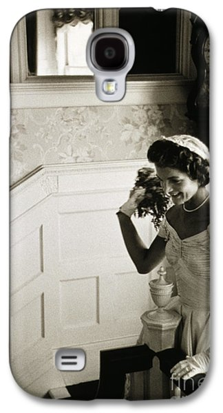 First Lady Galaxy S4 Cases - Jacqueline Kennedy Galaxy S4 Case by Granger