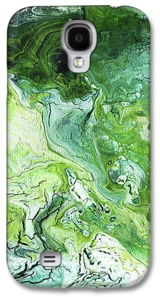 Jade- Abstract Art By Linda Woods Galaxy S4 Case