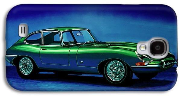 Jaguar E-type 1967 Painting Galaxy S4 Case
