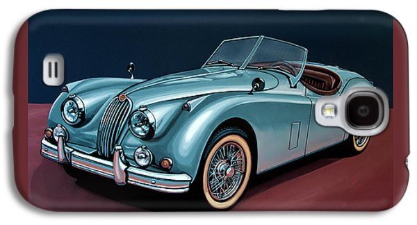 Swallow Galaxy S4 Case - Jaguar Xk140 1954 Painting by Paul Meijering