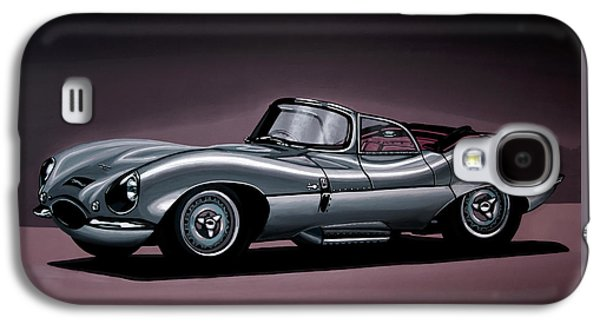 Swallow Galaxy S4 Case - Jaguar Xkss 1957 Painting by Paul Meijering