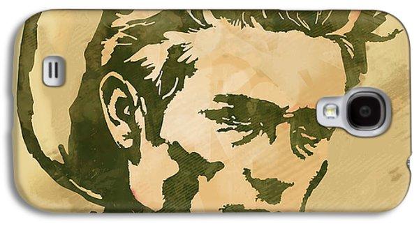 James Dean  -  Etching Pop Art Poster Galaxy S4 Case by Kim Wang