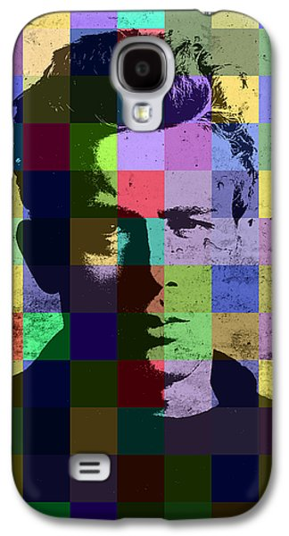 James Dean Actor Hollywood Pop Art Patchwork Portrait Pop Of Color Galaxy S4 Case by Design Turnpike