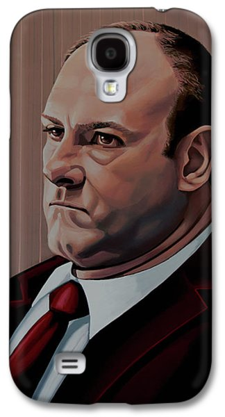 James Gandolfini Painting Galaxy S4 Case by Paul Meijering