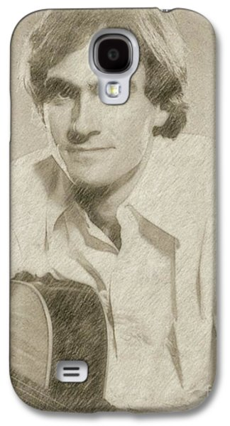 James Taylor Musician Galaxy S4 Case by Frank Falcon