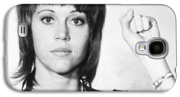 Jane Fonda Mug Shot Vertical Galaxy S4 Case by Tony Rubino