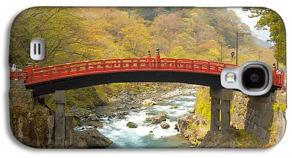Trees Photographs Galaxy S4 Cases - Japanese Bridge Galaxy S4 Case by Sebastian Musial