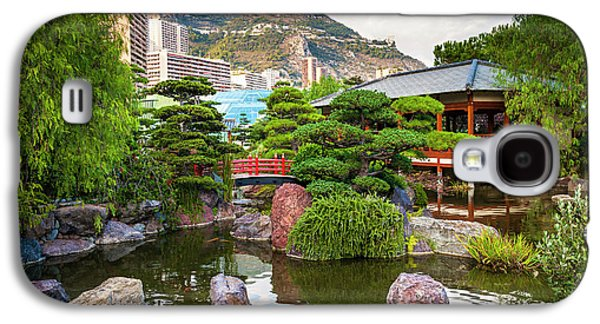 Japanese Garden In Monte Carlo Galaxy S4 Case by Elena Elisseeva