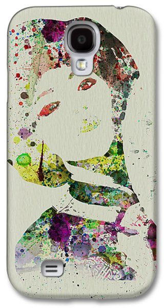 Singing Paintings Galaxy S4 Cases - Japanese woman Galaxy S4 Case by Naxart Studio
