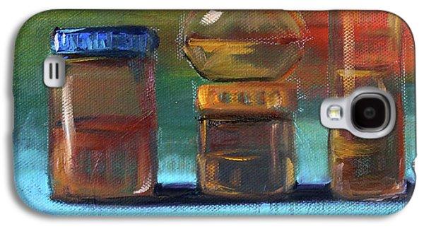 Jars Still Life Painting Galaxy S4 Case by Nancy Merkle